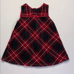 Girls Red Plaid Christmas Dress 1pc Size 18 Months
